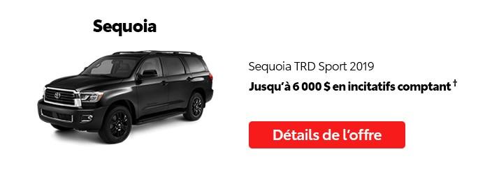 St-Hubert Toyota Promotion Juillet 2020 Sequoia TRD Sport 2019