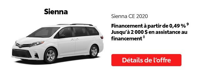 St-Hubert Toyota Promotion Juillet 2020 Sienna CE 2020