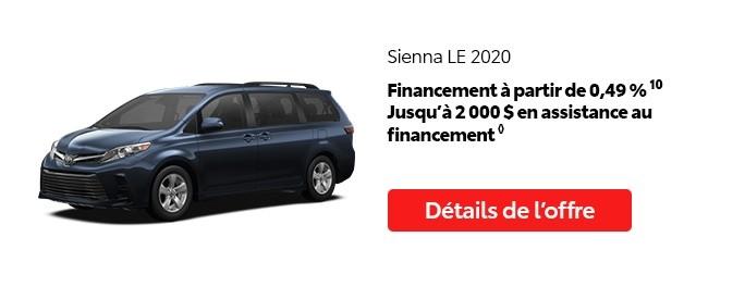St-Hubert Toyota Promotion Juillet 2020 Sienna LE 2020