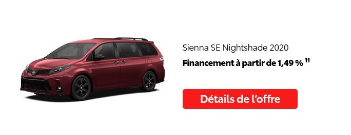 St-Hubert Toyota Promotion Juillet 2020 Sienna SE Nightshade 2020