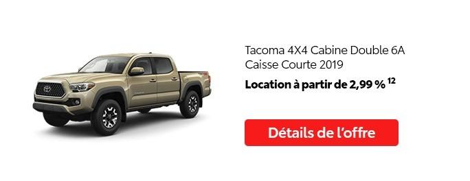 St-Hubert Toyota Promotion Juillet 2020 Tacoma 4x4 DoubleCab SB 2019