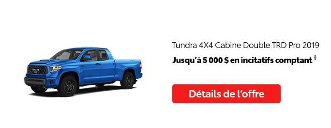 St-Hubert Toyota Promotion Juillet 2020 Tundra 4x4 DoubleCab TRD Pro 2019
