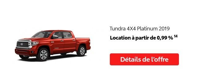 St-Hubert Toyota Promotion Juillet 2020 Tundra 4x4 Platinum 2019