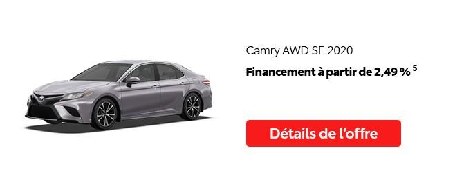 St-Hubert Toyota Vente Étiquettes Rouges Août 2020 Camry AWD SE 2020