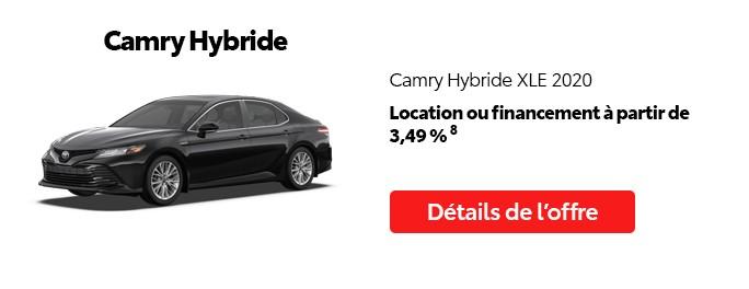 St-Hubert Toyota Vente Étiquettes Rouges Août 2020 Camry Hybride XLE 2020