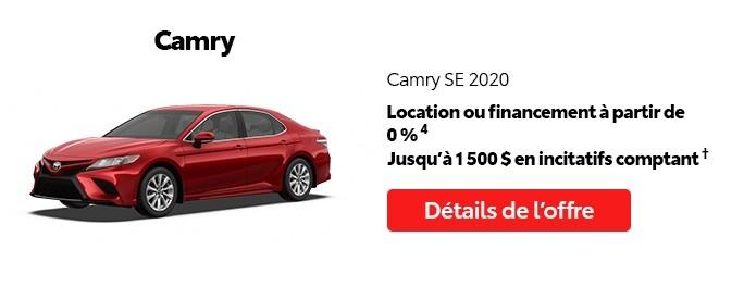 St-Hubert Toyota Vente Étiquettes Rouges Août 2020 Camry SE 2020