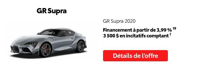 St-Hubert Toyota Vente Étiquettes Rouges Août 2020 GR Supra 2020