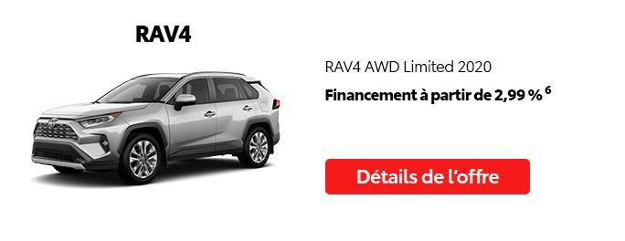 St-Hubert Toyota Vente Étiquettes Rouges Août 2020 RAV4 AWD Limited 2020