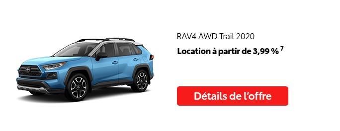 St-Hubert Toyota Vente Étiquettes Rouges Août 2020 RAV4 AWD Trail 2020