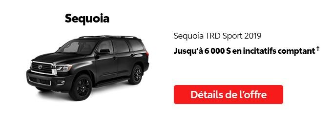 St-Hubert Toyota Vente Étiquettes Rouges Août 2020 Sequoia TRD Sport 2019