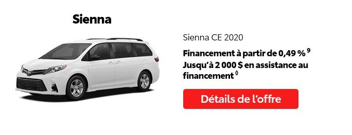 St-Hubert Toyota Vente Étiquettes Rouges Août 2020 Sienna CE 2020