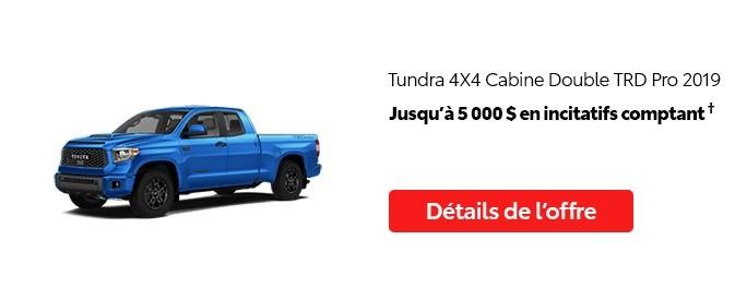 St-Hubert Toyota Vente Étiquettes Rouges Août 2020 Tundra 4x4 DoubleCab TRD Pro 2019