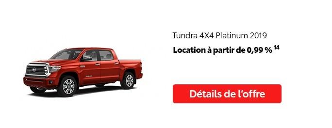 St-Hubert Toyota Vente Étiquettes Rouges Août 2020 Tundra 4x4 Platinum 2019