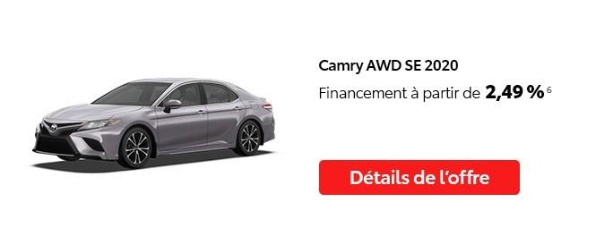St-Hubert Toyota Vente Étiquettes Rouges Octobre 2020 Camry AWD SE 2020
