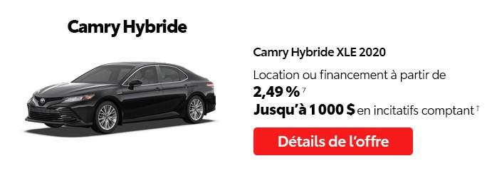 St-Hubert Toyota Vente Étiquettes Rouges Octobre 2020 Camry Hybride XLE 2020
