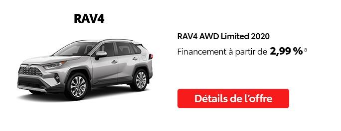 St-Hubert Toyota Vente Étiquettes Rouges Octobre 2020 RAV4 AWD Limited 2020