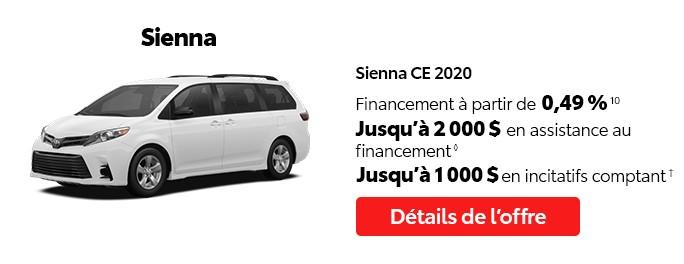 St-Hubert Toyota Vente Étiquettes Rouges Octobre 2020 Sienna CE 2020