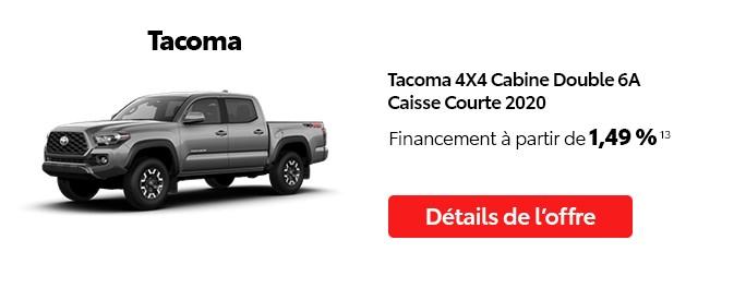 St-Hubert Toyota Vente Étiquettes Rouges Octobre 2020 Tacoma 4x4 DoubleCab SB 2020