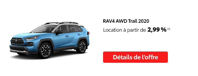 St-Hubert Toyota C'est l'heure Toyota Janvier 2021 RAV4 AWD Trail 2020