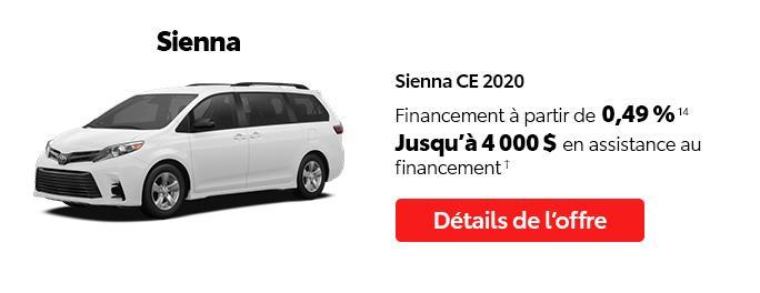 St-Hubert Toyota C'est l'heure Toyota Janvier 2021 Sienna CE 2020